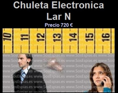 Pinganillo Lar N Chuleta Electrónica Lar N