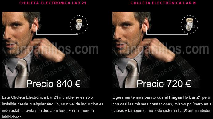 Comprar Pinganillo Lar 21 Chuleta Electrónica
